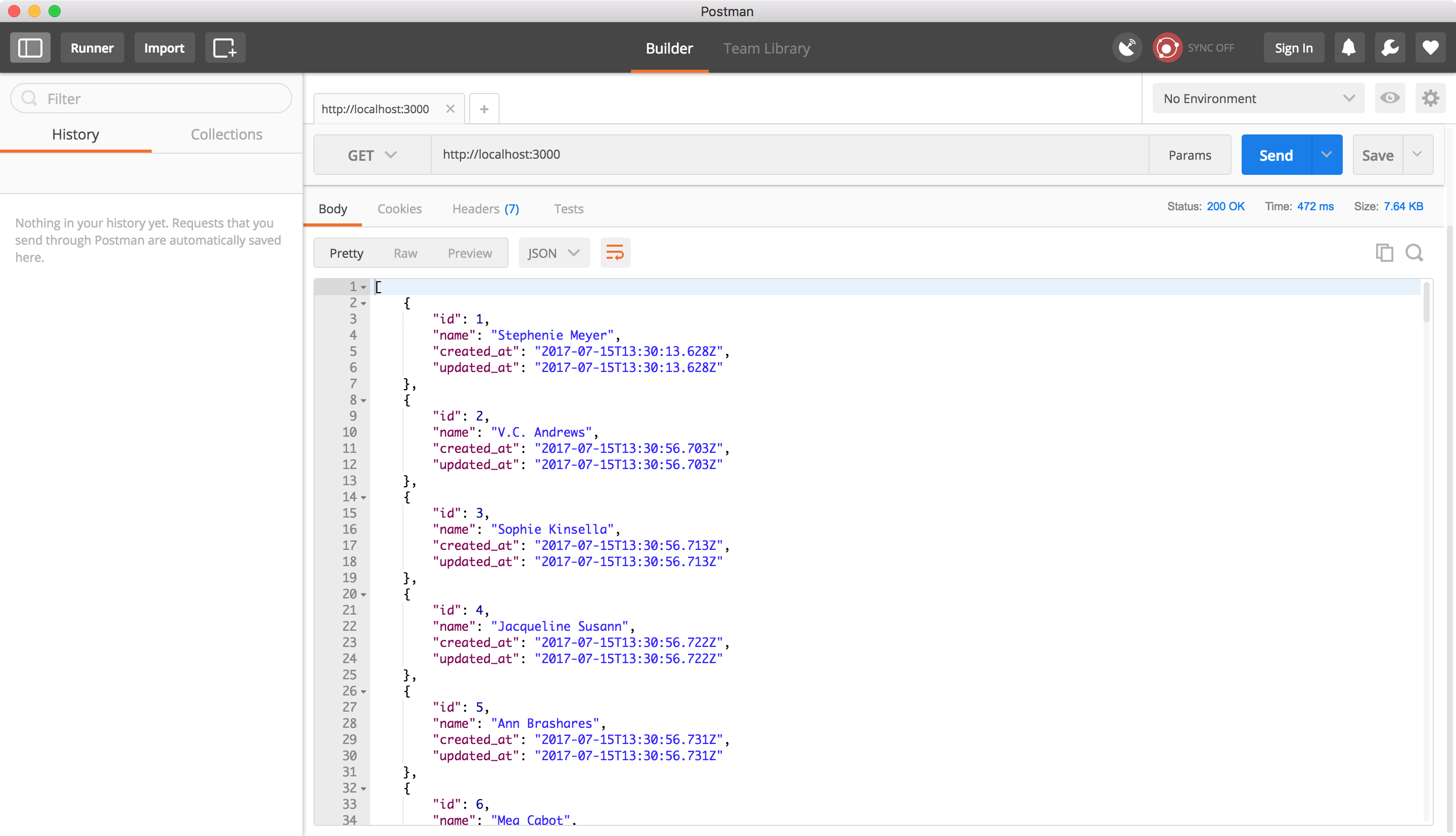 Testing our app with Postman