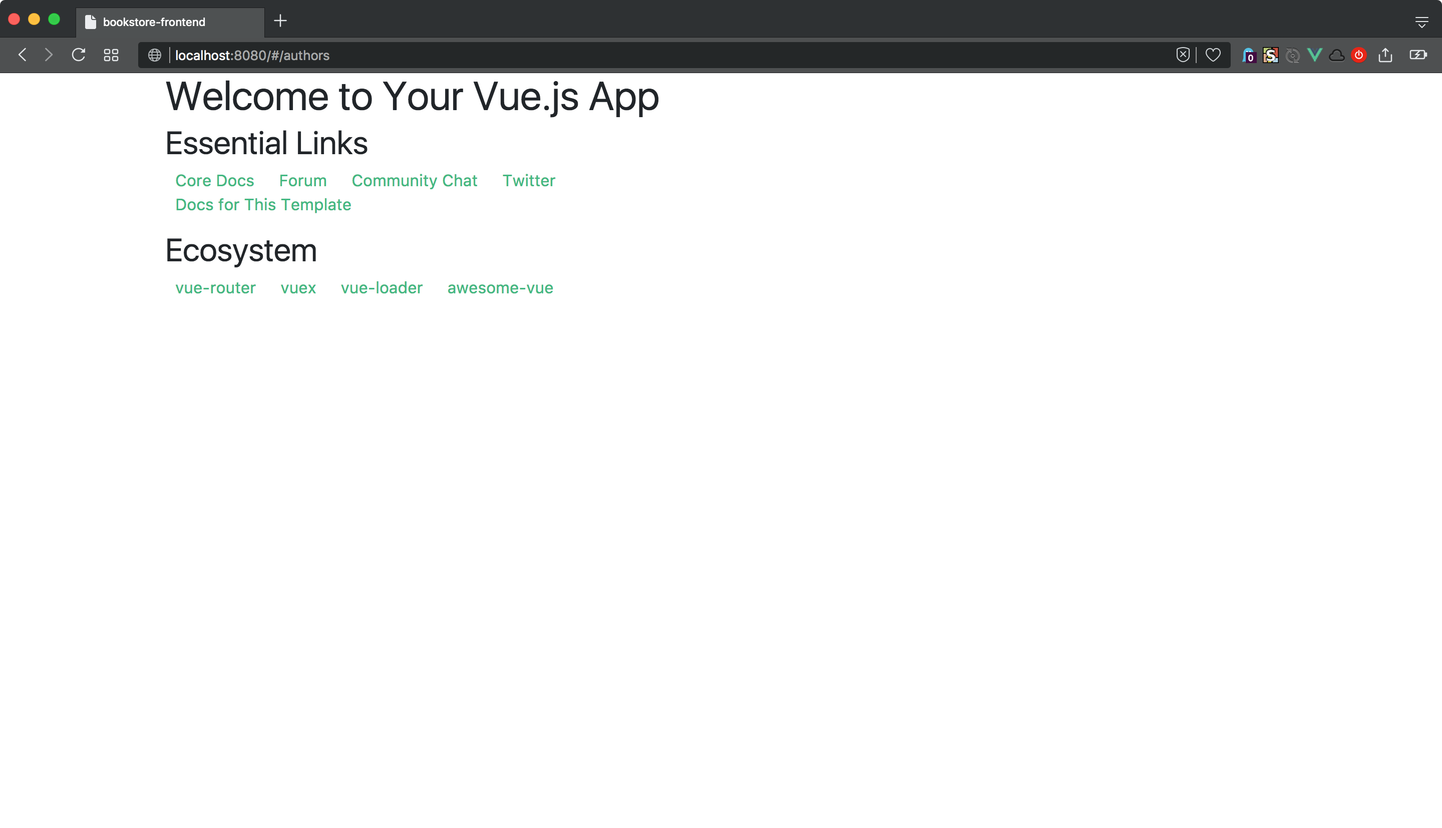 Vue js front end app, part 3: Authentication